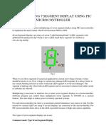 Multiplexing 7 Segment Display Using PIC Microcontroller (1)
