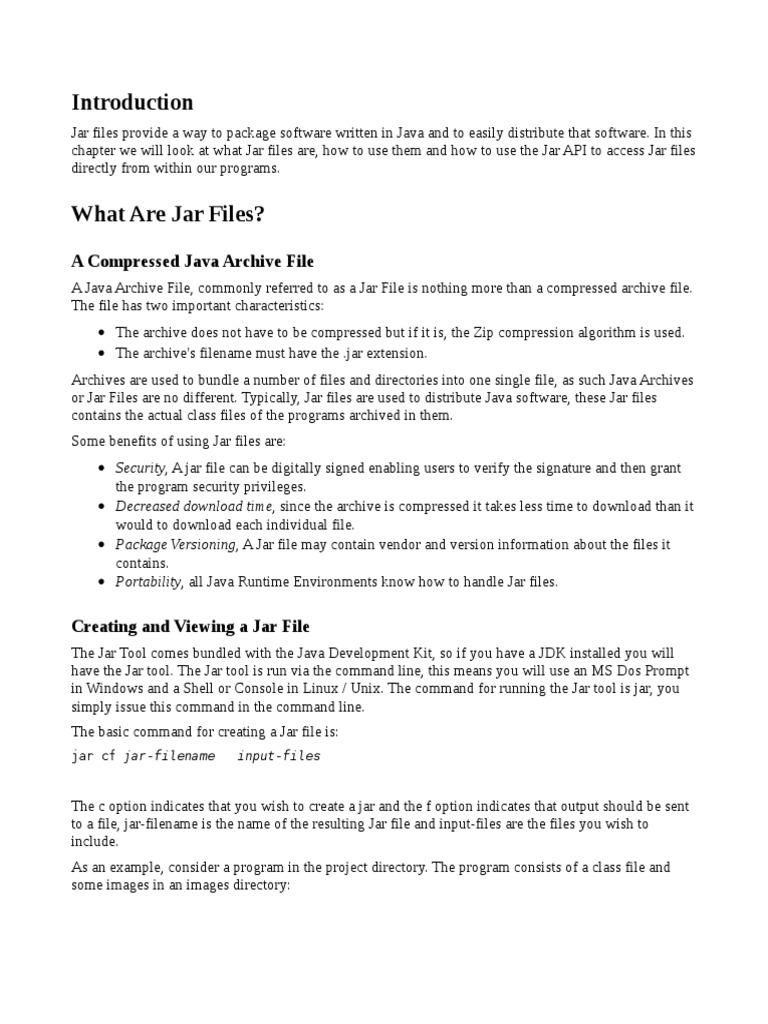Jar File | Command Line Interface | Computer File