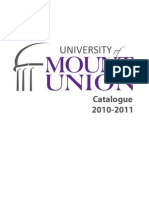 University of Mount Union Catalogue 2010-2011