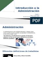 Introduccion de La Administracion