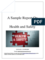 Sample Report on Health and Safety By Instant Essay Writing