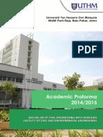 proforma 20142015 uthm