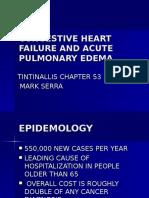Congestive Heart Failure & Acute Pulmonary Ed