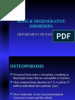 Bone Degenerative Disorders