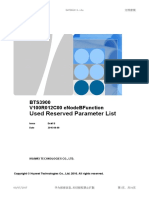 BTS3900 V100R012C00 ENodeBFunction Used Reserved Parameter List Draft B (2016!08!08)