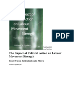 The Impact of Political Action on Labour Movement Strength