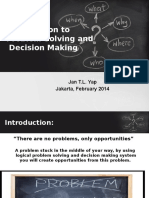 01 Introduction to Problem Solving & Decision Making
