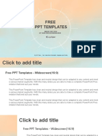 Watercolor Painted Background PowerPoint Templates Widescreen