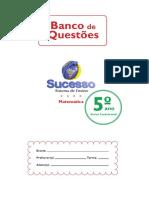 Atividade 5º Anode Matemática Sistema de Ensino Sucesso Sem Resposta