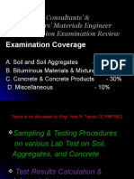 Sampling & Testing Procedures