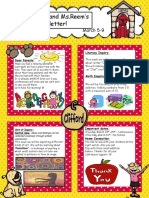 Letter Oo Newsletter March 5th