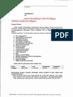 AK3 migas sertifikasi dari migas