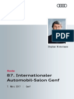 Rede Audi Sport GmbH Autosalon Genf 2017