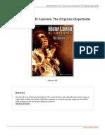 Hector Lavoe El Cantante the Originals Paperback Doc