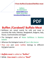 Differentiating Beef From Buffen