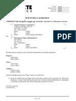 Concrete Services Standard Subcontract