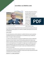 Sistema Democrático en Bolivia Está Debilitado