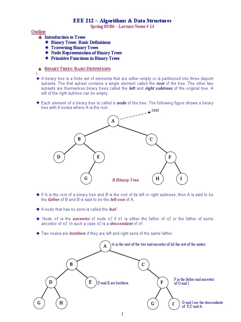 Trees | Algorithms And Data Structures | Mathematical Concepts
