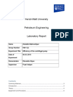 Efficiency of the Centrifugal Pump-lab Report