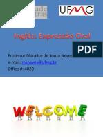 Expressão Oral - Aula 1 2015-1Mara