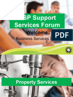 BSP Support Services Forum Presentation Feb-March