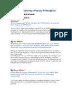 educ764 practicum reflections