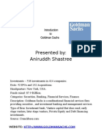 Goldman Sachs Introduction