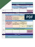 API! Schedule 2016