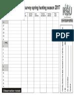 KSU Migration Survey Sheet 2017