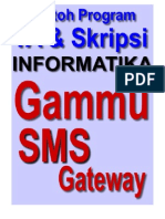 Gammu SMS Gateway Untuk Tugas Akhir Dan Skripsi