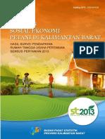 Analisis Sosial Ekonomi Petani Di Kalimantan Barat Hasil Survei Pendapatan Rumah Tangga Usaha Pertanian Sensus Pertanian 2013
