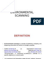 Environmental Scanning PPT's