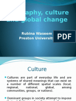 Geography, Culture and Global Change