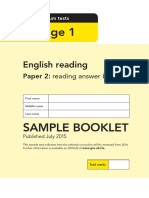 Sample Ks1 Englishreading Paper2 Answerbooklet