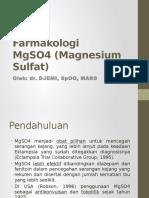 Farmakologi MgSO4