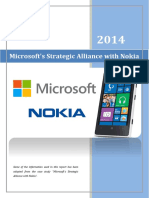 Managing Strategy Report - Microsoft & Nokia Alliance