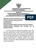 Sambutan Menkominfo Dlm Upcr HARKITNAS 2016 (1)