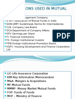 Abbreviations Used in Mutual Funds
