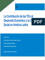 La Contribución de las TICs al Desarrollo Económico y la Cohesión Social en América Latina