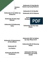 Kabanata I Sa Ibabaw Ng Kubyerta
