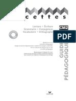 Guide pédagogique, Facettes Manuel CM2, 2008