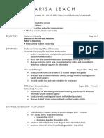 marisa leach resume 2017