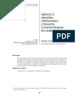 ANTIQUEIRA, M. Silencio e memoria, cristianismo e dinastia constantiniana em aurelio vitor.pdf