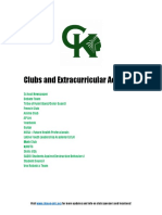 Clubs and Extracurricular Activities