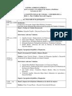 Agenda Audiencia Pública Economía Del Cuidado 8 de Marzo de 2017