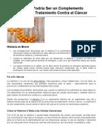 La Vitamina C Un Complemento Potente Contra El Cáncer