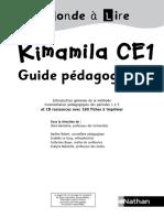 """Guide Pédagogique  Kimamila Ce1 """"Un Monde à Lire"""""""