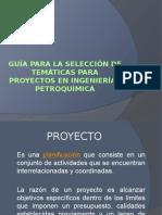 Guía Para La Selección de Temáticas Para Proyectos i