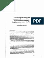 La Carta de Intención (Letter of Intent) o El Memorando de Entendimiento (Memorandum of Understanding). Su Aplicación en El Derecho Colombiano_Andrés Alejandro Díaz Huertas