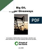 Taxpayers handing $33 billion to Big Oil